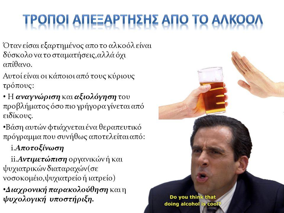 Όταν είσαι εξαρτημένος απο το αλκοόλ είναι δύσκολο να το σταματήσεις,αλλά όχι απίθανο.