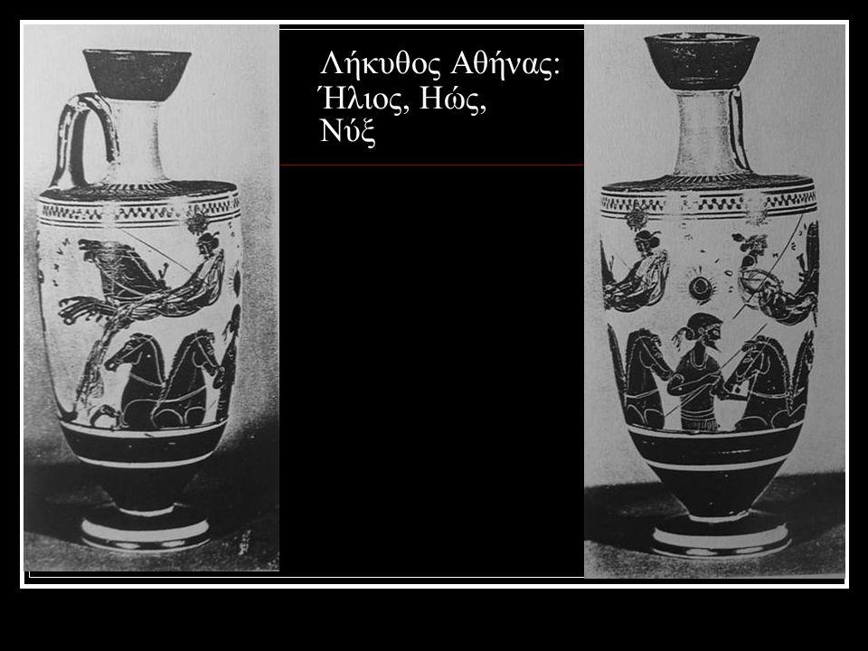 Λήκυθος Αθήνας: Ήλιος, Ηώς, Νύξ