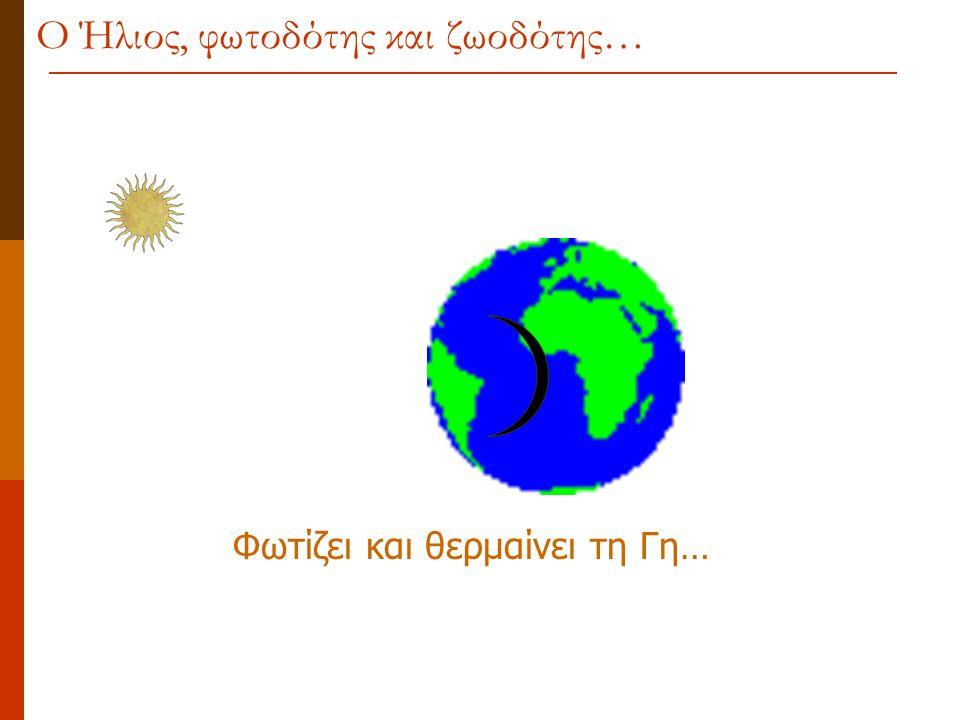 Φωτίζει και θερμαίνει τη Γη… Ο Ήλιος, φωτοδότης και ζωοδότης…