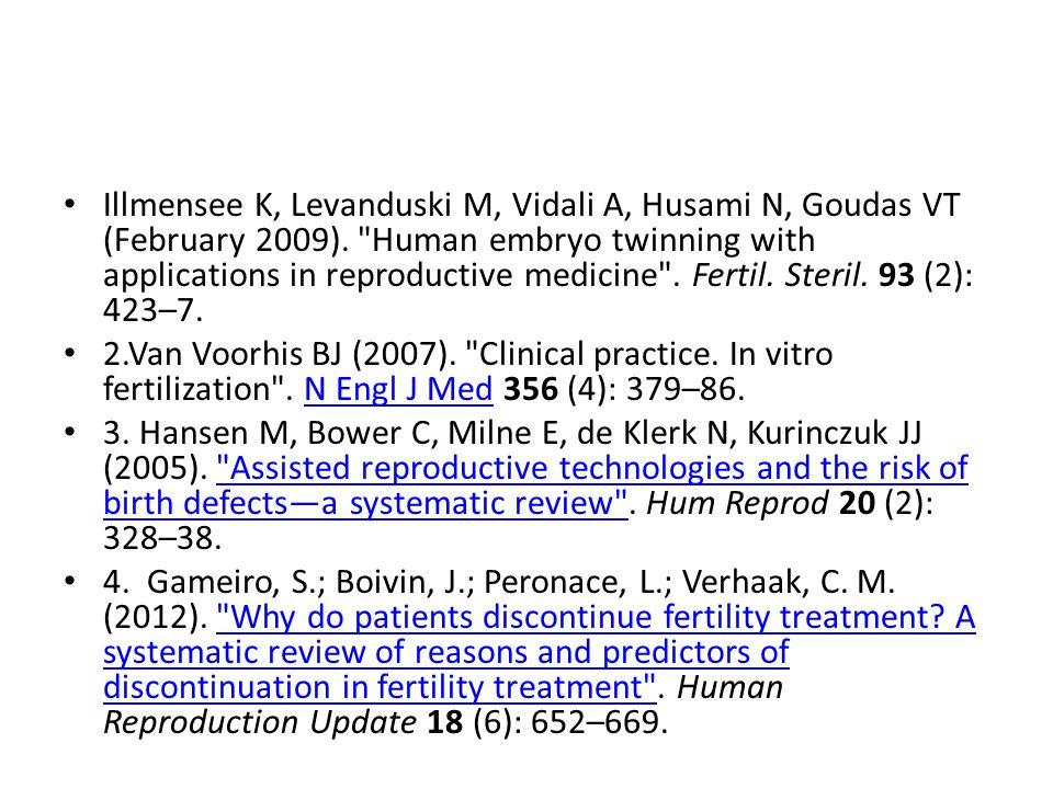 Illmensee K, Levanduski M, Vidali A, Husami N, Goudas VT (February 2009).