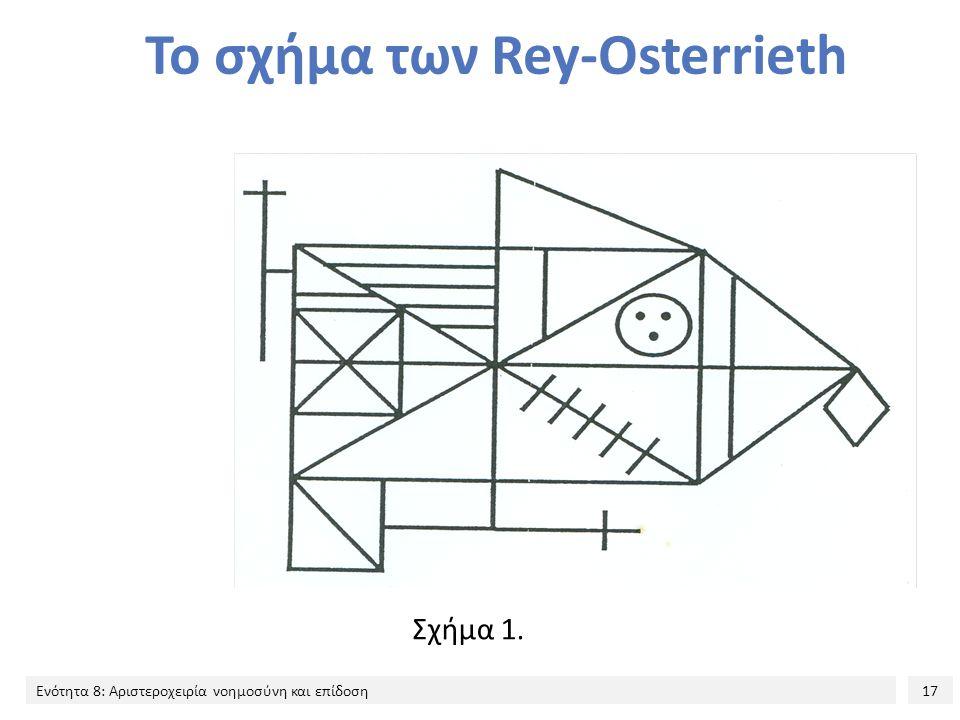 17 Ενότητα 8: Αριστεροχειρία νοημοσύνη και επίδοση Το σχήμα των Rey-Osterrieth Σχήμα 1.