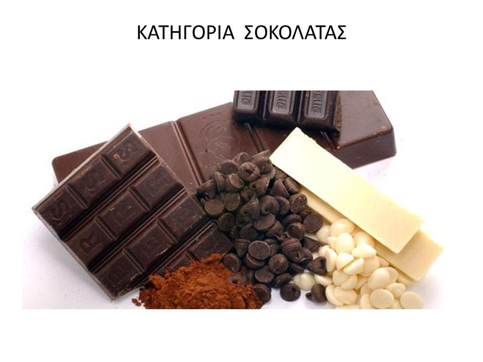 ΜΕ ΤΗΝ ΟΝΟΜΑΣΙΑ «ΣΟΚΟΛΑΤΑ» Προσδιορίζεται μια σειρά από προϊόντα διατροφής που έχουν ως βασικό συστατικό το κακάο.