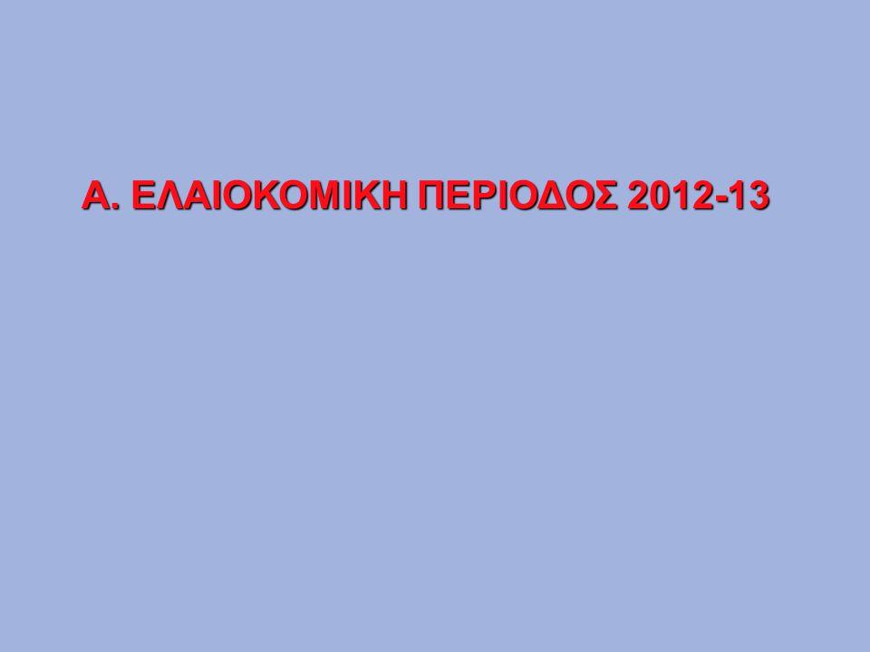 Σύνοψη μετρήσεων ποιοτικών παραμέτρων ελαιόλαδου (ελαιοκομική περιοδος 2012-13)  Συλλέχθηκαν 45 δείγματα ελαιολάδου α π ό διάφορες π ηγές  Μετρήθηκαν οι δείκτες Κ και στα 45 δείγματα.