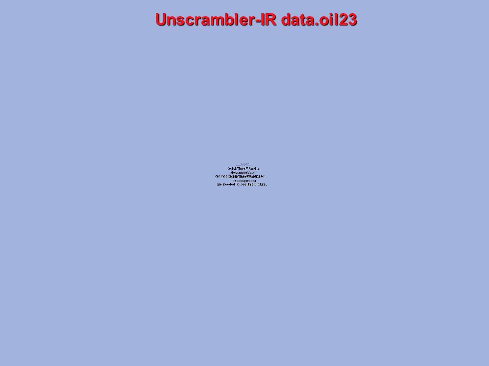 Unscrambler-IR data.oil23