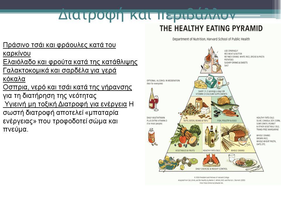 Πράσινο τσάι και φράουλες κατά του καρκίνου Ελαιόλαδο και φρούτα κατά της κατάθλιψης Γαλακτοκομικά και σαρδέλα για γερά κόκαλα Οσπρια, νερό και τσάι κ