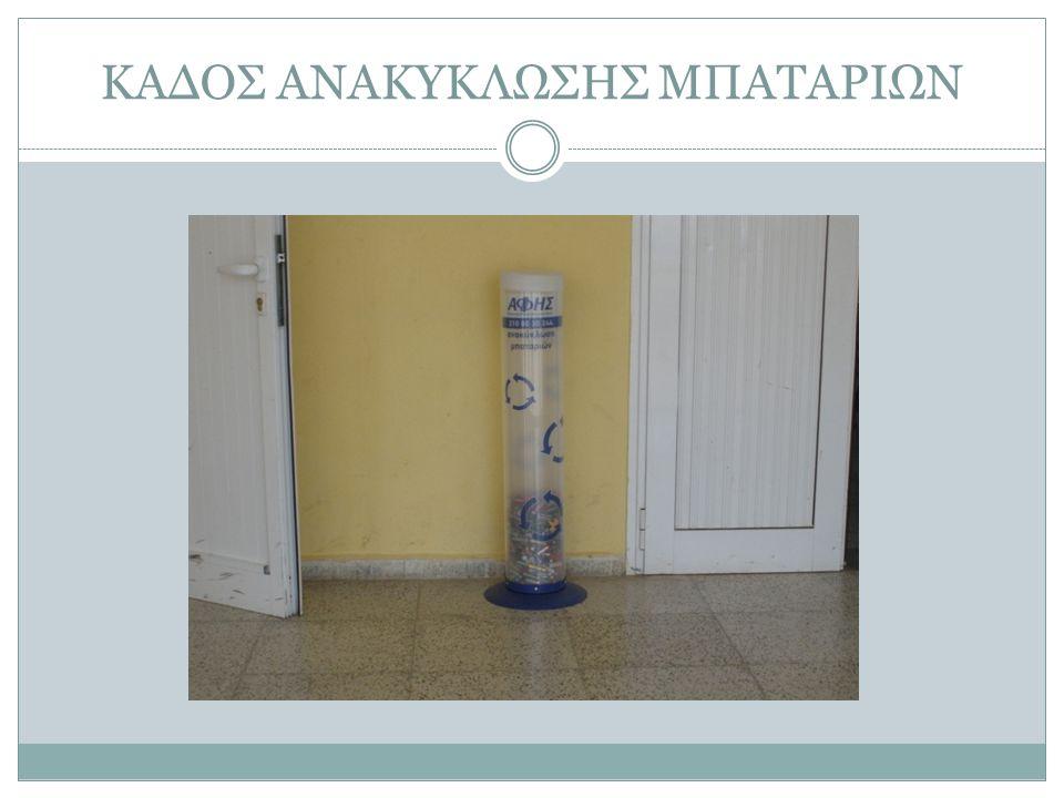 ΚΑΔΟΣ ΑΝΑΚΥΚΛΩΣΗΣ ΜΠΑΤΑΡΙΩΝ