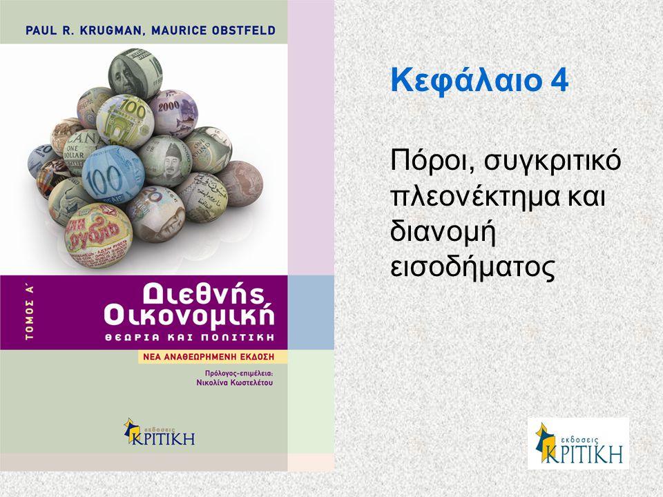 Κεφάλαιο 4 Πόροι, συγκριτικό πλεονέκτημα και διανομή εισοδήματος
