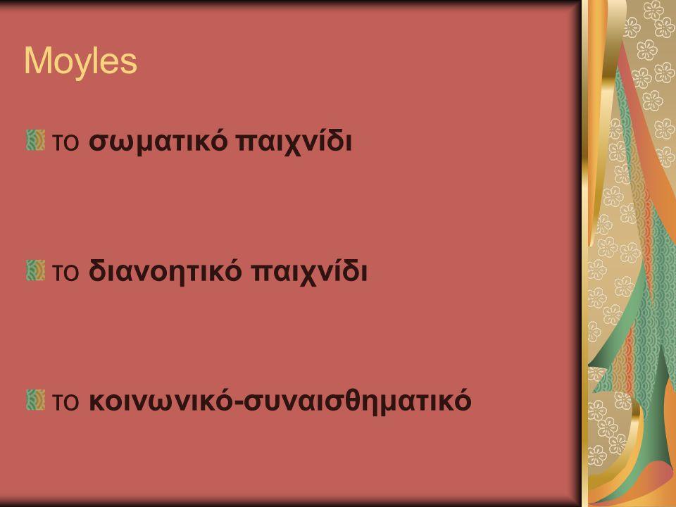 Moyles το σωματικό παιχνίδι το διανοητικό παιχνίδι το κοινωνικό-συναισθηματικό