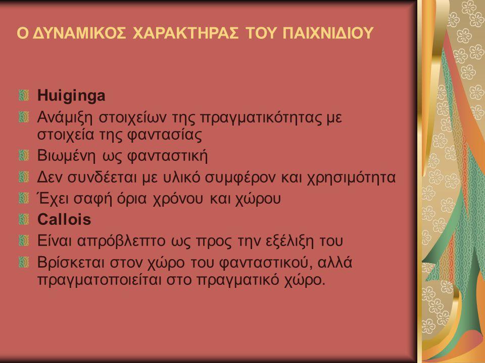 Το παιχνίδι δραστηριότητα και το παιχνίδι –αντικείμενο Διαχωρίζοντας τις δύο έννοιες ο Champagne υποστηρίζει ότι παιχνίδι- αντικείμενο είναι κάθε τι που έχει κατασκευαστεί για να διασκεδάζει τα παιδιά.