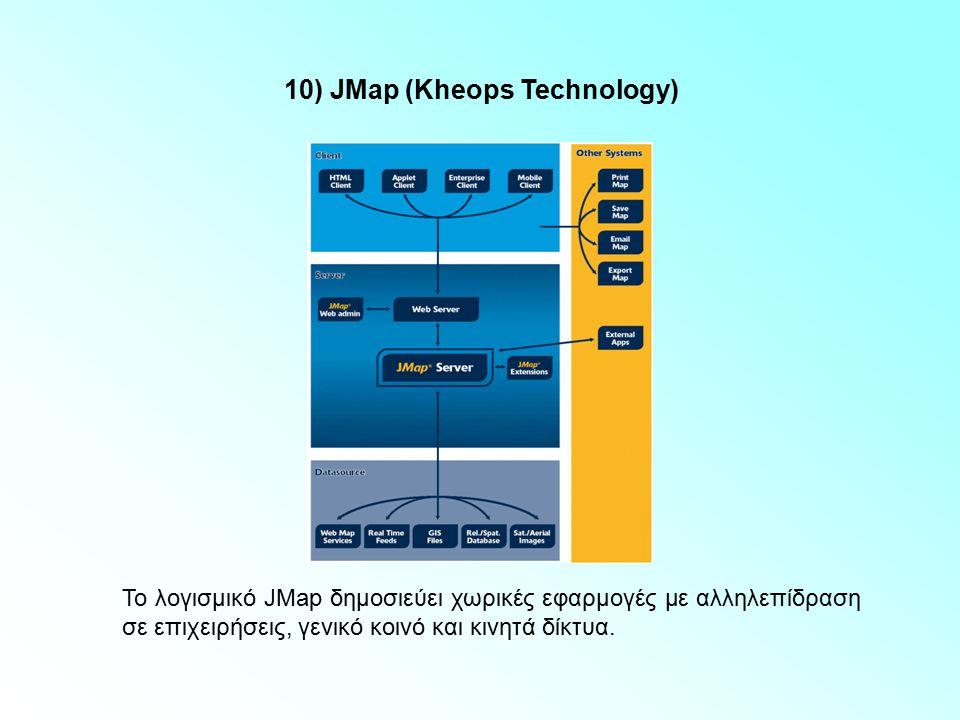 9) Ionic Software Η τεχνολογία RedSpider Web, της εταιρείας Ionic Software, παρέχει αρχιτεκτονική έκθεσης γεωγραφικών δεδομένων, βασισμένη σε standard.