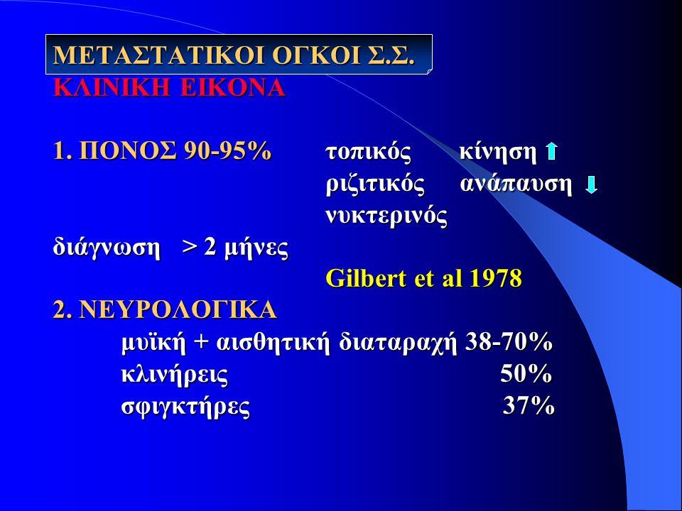 ΜΕΤΑΣΤΑΤΙΚΟΙ ΟΓΚΟΙ Σ.Σ.ΚΛΙΝΙΚΗ ΕΙΚΟΝΑ 1.
