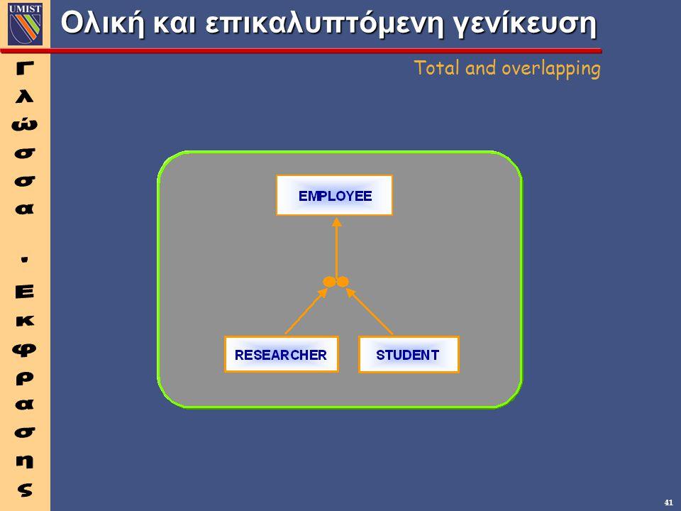 41 Ολική και επικαλυπτόμενη γενίκευση Total and overlapping