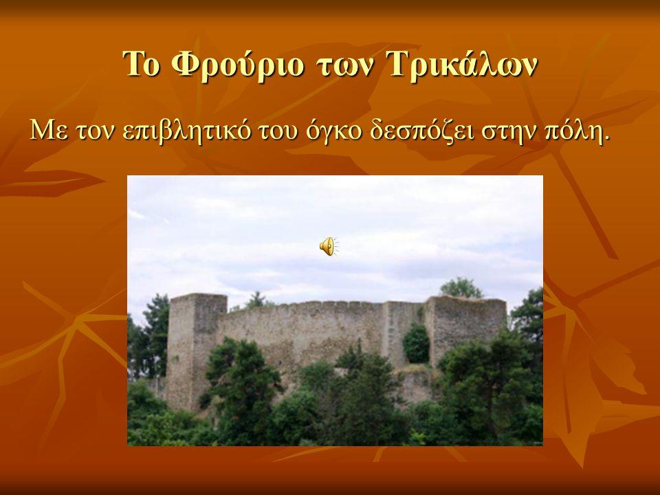Το Φρούριο των Τρικάλων Με τον επιβλητικό του όγκο δεσπόζει στην πόλη.