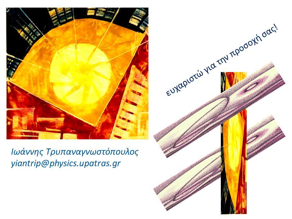 Ιωάννης Τρυπαναγνωστόπουλος yiantrip@physics.upatras.gr ευχαριστώ για την προσοχή σας!