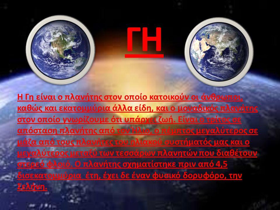 Η Γη είναι ο πλανήτης στον οποίο κατοικούν οι άνθρωποι, καθώς και εκατομμύρια άλλα είδη, και ο μοναδικός πλανήτης στον οποίο γνωρίζουμε ότι υπάρχει ζω