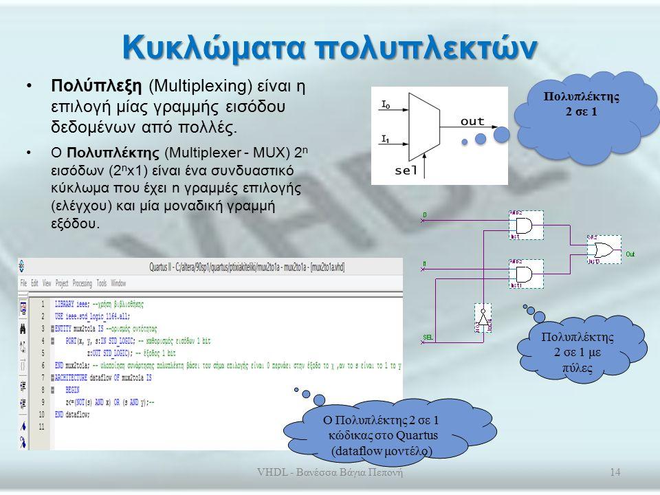 Συνδυαστικά και Ακολουθιακά Κυκλώματα Συνδυαστικά: η έξοδός τους εξαρτάται μόνο από τις τιμές εισόδου τους.