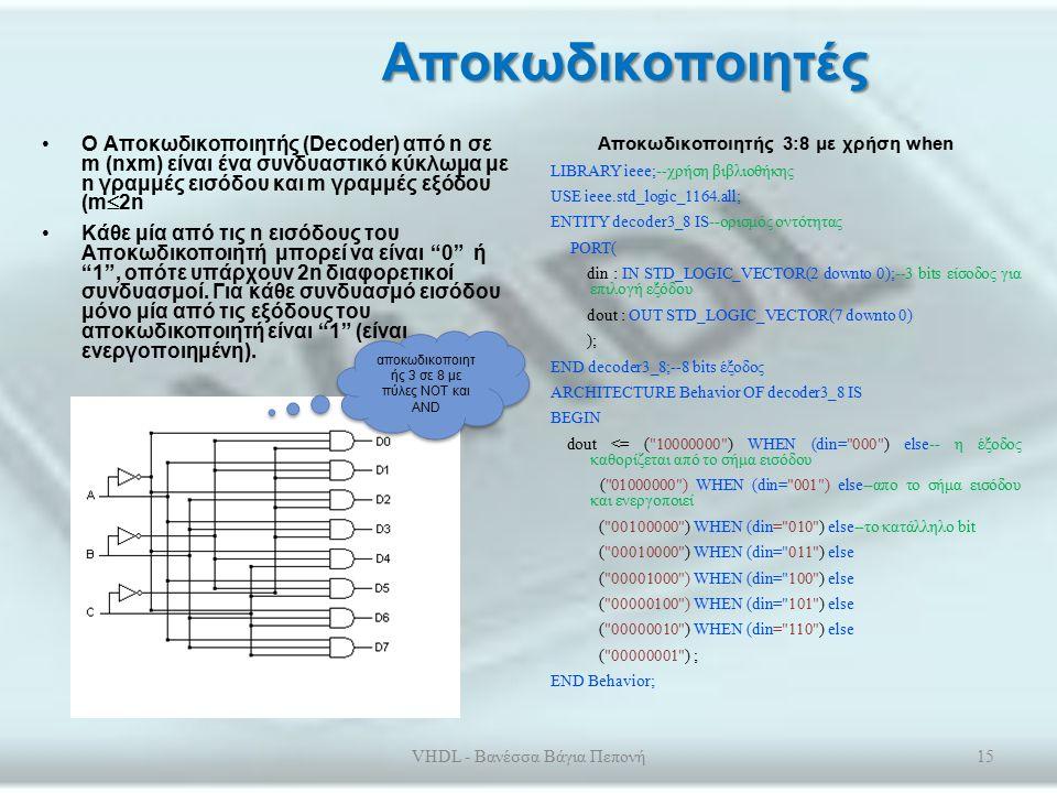 Κυκλώματα πολυπλεκτών Πολύπλεξη (Multiplexing) είναι η επιλογή μίας γραμμής εισόδου δεδομένων από πολλές.