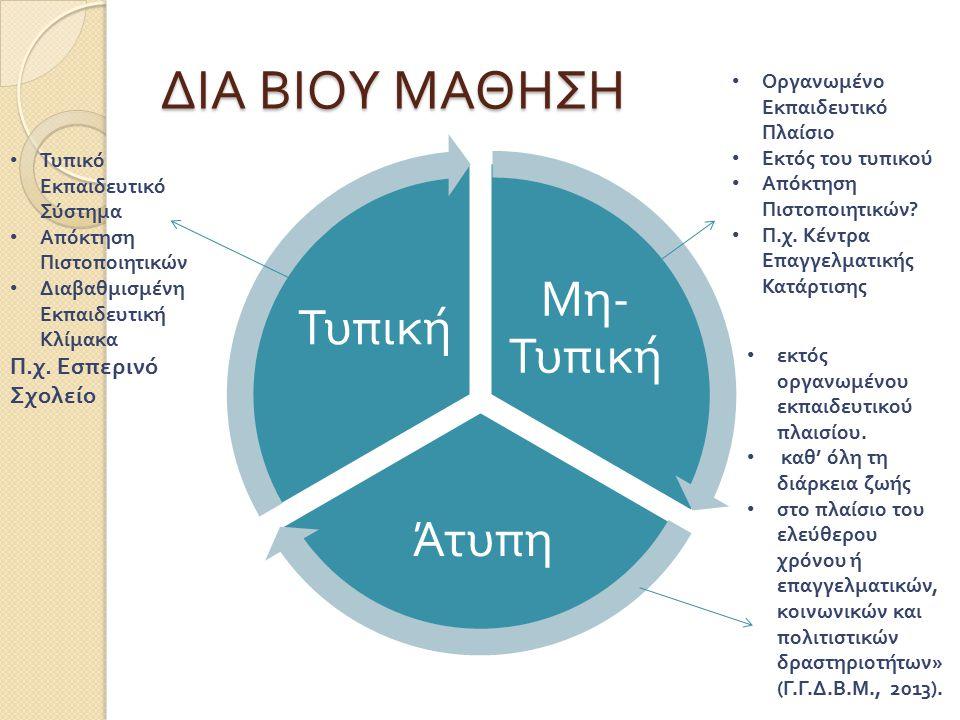 Χαρακτηριστικά ενήλικων εκπαιδευομένων ( Κόκκος, 2005) 3.