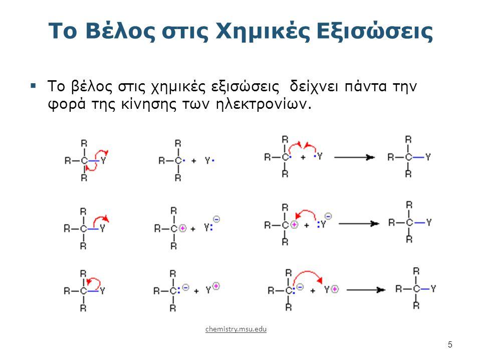 Το Βέλος στις Χημικές Εξισώσεις  Το βέλος στις χημικές εξισώσεις δείχνει πάντα την φορά της κίνησης των ηλεκτρονίων.