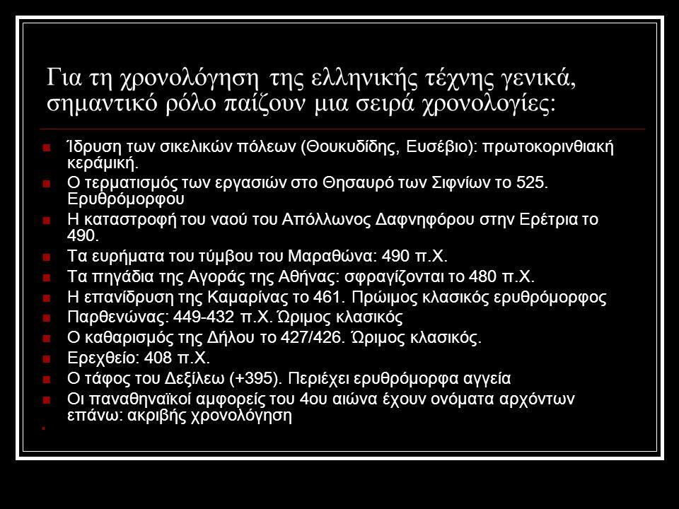 Αγγεία που έχουν βρεθεί σε ταφές Πρόκειται για την πλέον πολυάριθμη κατηγορία, ιδιαίτερα στην Ιταλία, όπου τα ελληνικά αγγεία, επείσακτα ή κατασκευασμένα από τους Έλληνες και τους αυτόχθονες κατοίκους, έχουν σε μεγάλο βαθμό ανακαλυφθεί σε νεκροπόλεις και νεκροταφεία.