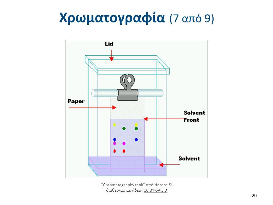 """Χρωματογραφία (7 από 9) """"Chromatography tank"""" από Hazard-SJ διαθέσιμο με άδεια CC BY-SA 3.0Chromatography tankHazard-SJCC BY-SA 3.0 29"""