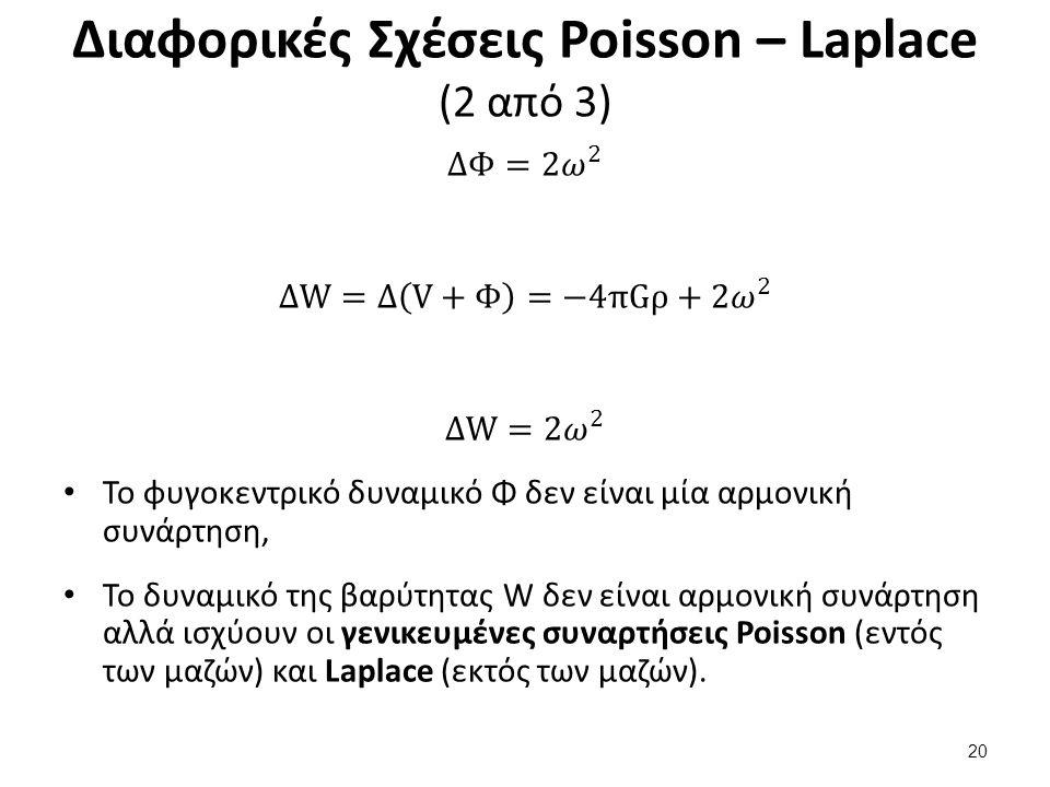 Διαφορικές Σχέσεις Poisson – Laplace (2 από 3) 20