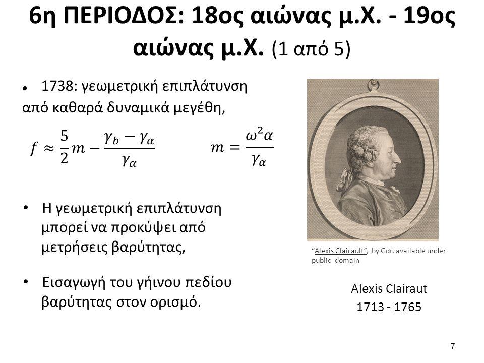 6η ΠΕΡΙΟΔΟΣ: 18ος αιώνας μ.Χ. - 19ος αιώνας μ.Χ. (1 από 5) 1738: γεωμετρική επιπλάτυνση από καθαρά δυναμικά μεγέθη, Η γεωμετρική επιπλάτυνση μπορεί να