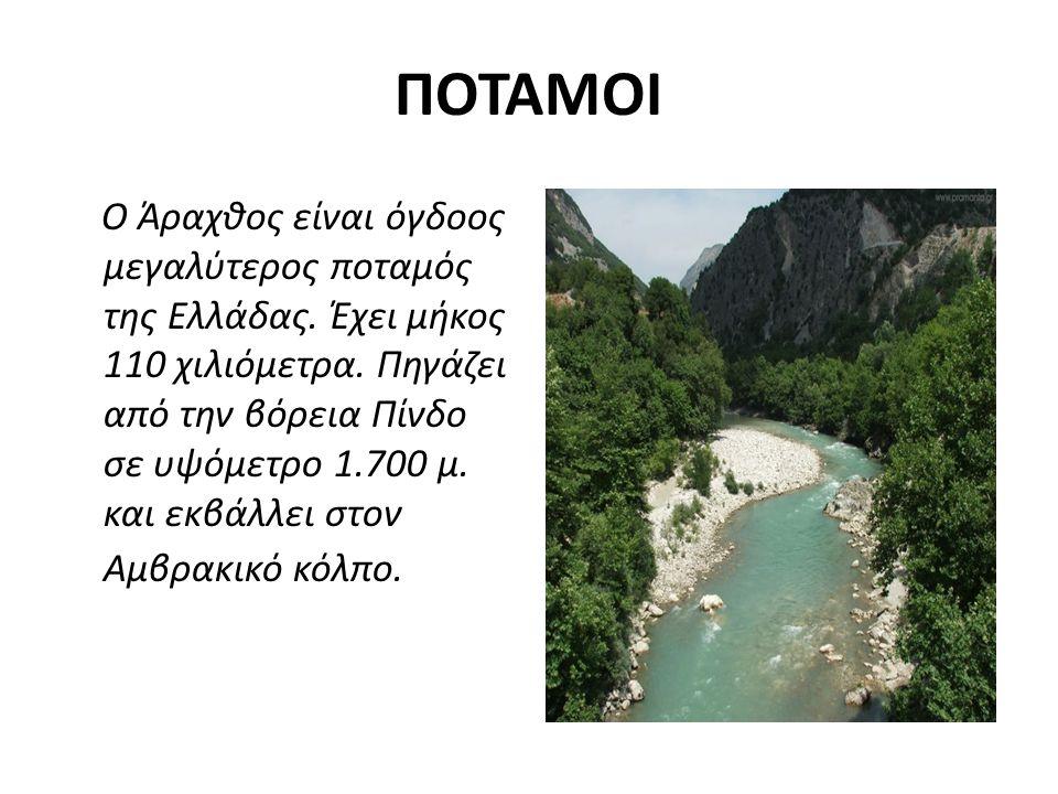 ΠOTAMOΙ Ο Άραχθος είναι όγδοος μεγαλύτερος ποταμός της Ελλάδας.