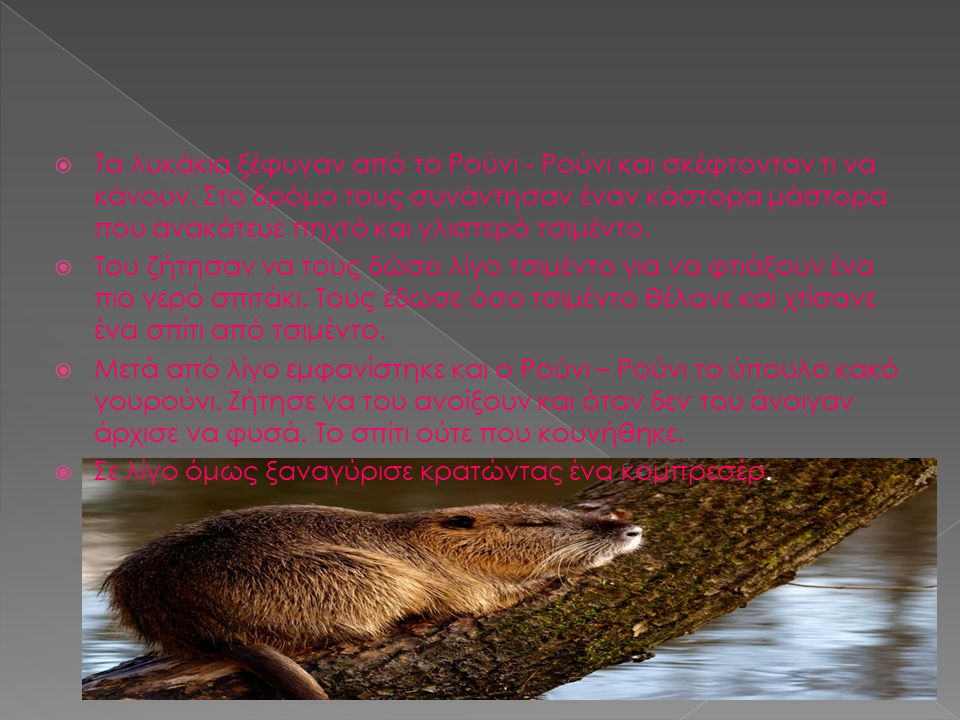  Τα λυκάκια ξέφυγαν από το Ρούνι - Ρούνι και σκέφτονταν τι να κάνουν.