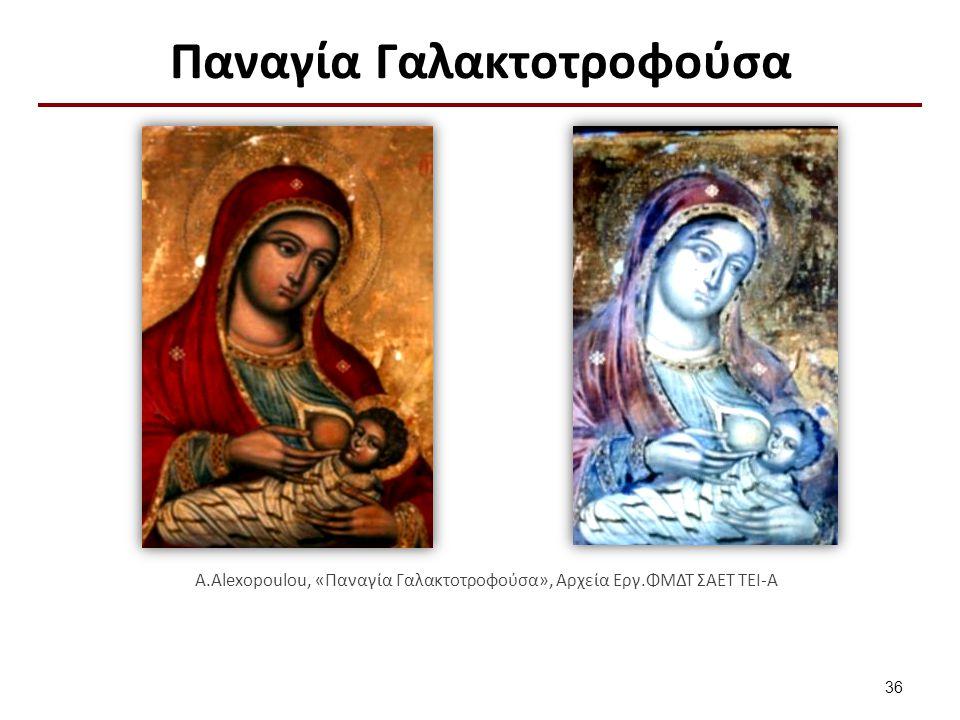 Παναγία Γαλακτοτροφούσα A.Alexopoulou, «Παναγία Γαλακτοτροφούσα», Αρχεία Εργ.ΦΜΔΤ ΣΑΕΤ ΤΕΙ-Α 36