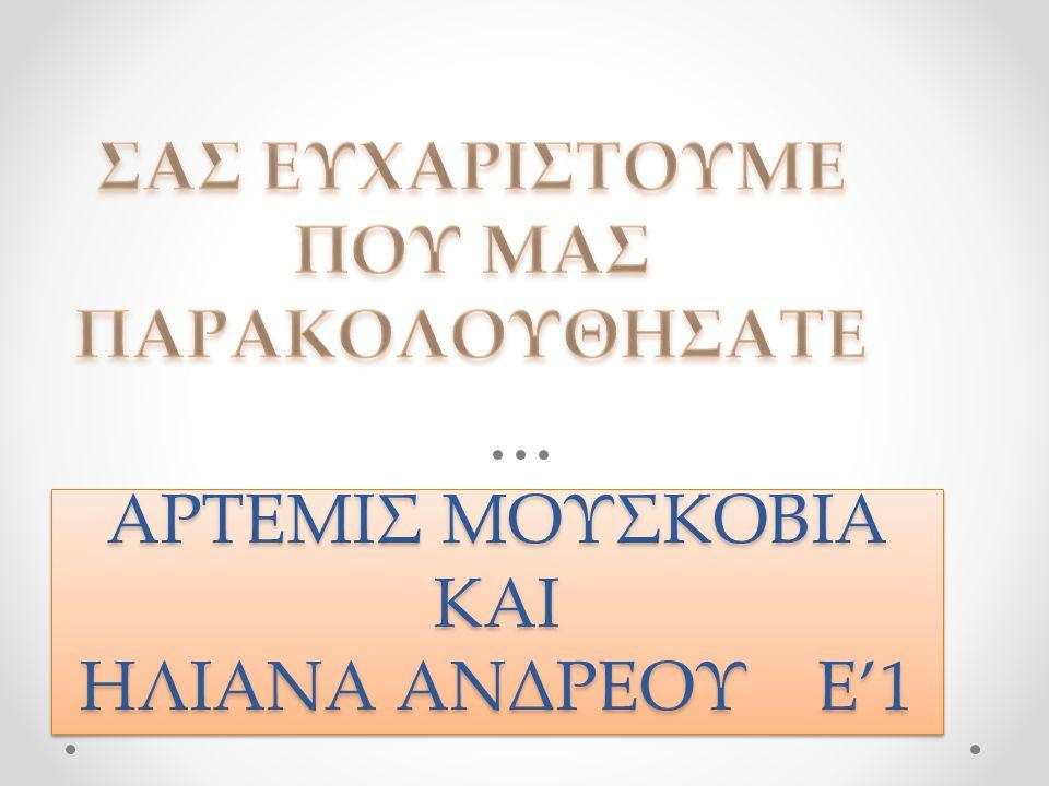 ΑΡΤΕΜΙΣ ΜΟΥΣΚΟΒΙΑ ΚΑΙ ΗΛΙΑΝΑ ΑΝΔΡΕΟΥ Ε'1