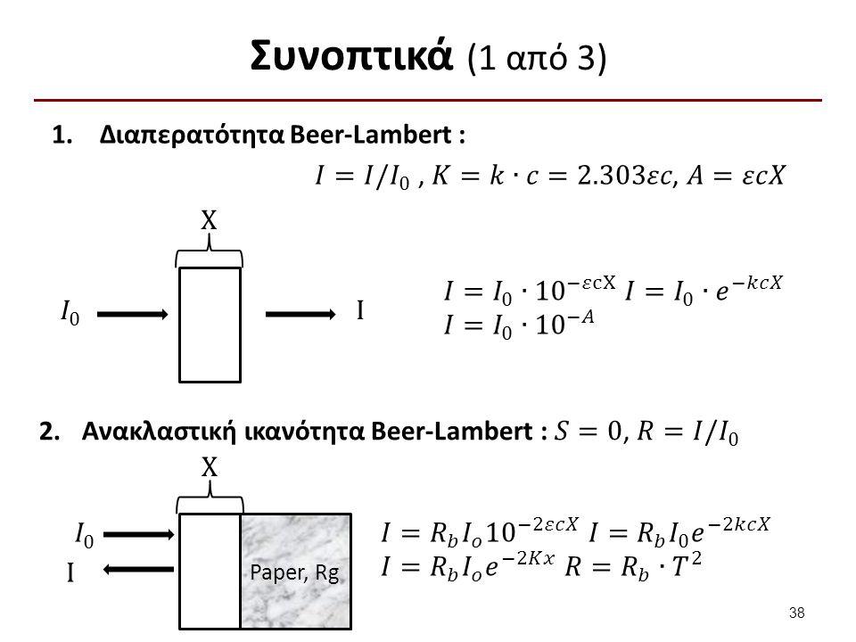 Συνοπτικά (1 από 3) X I X Paper, Rg I 38