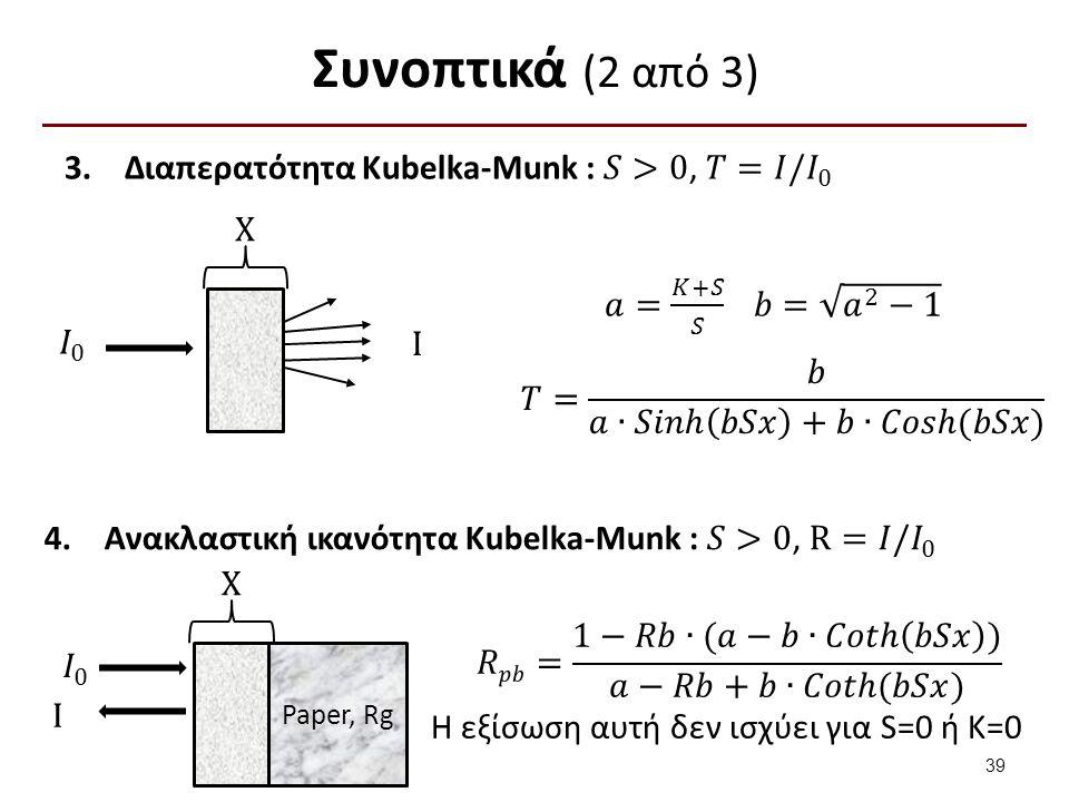 Συνοπτικά (2 από 3) X I X Paper, Rg I 39