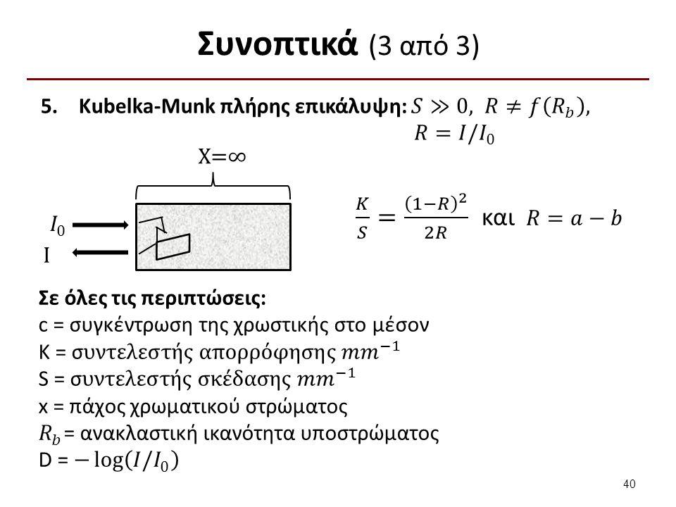 Συνοπτικά (3 από 3) I X=∞ 40