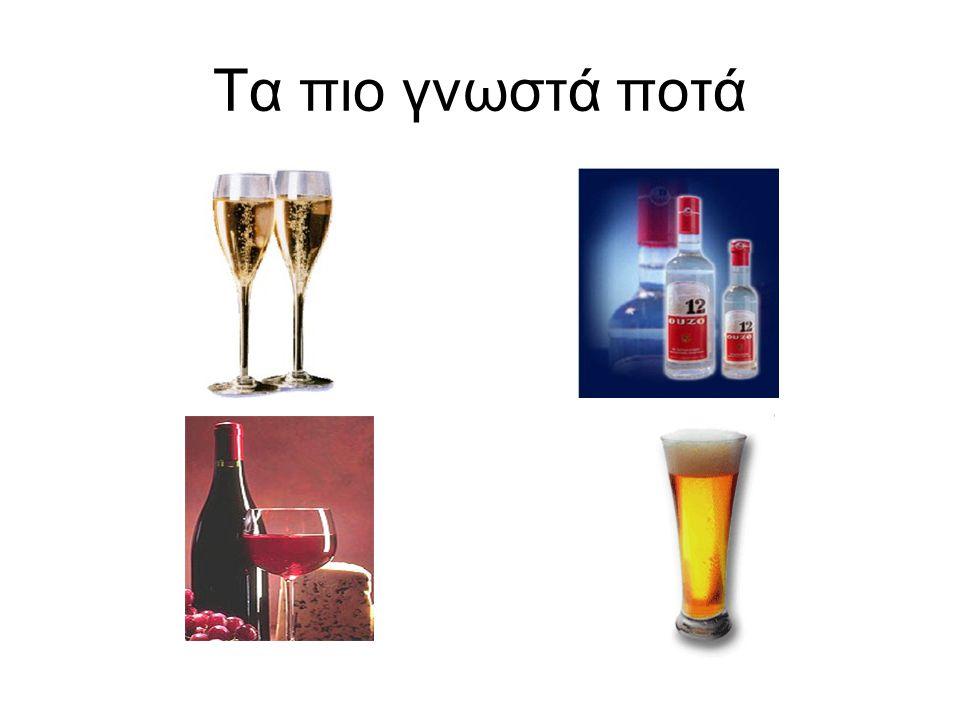 Τα πιο γνωστά ποτά