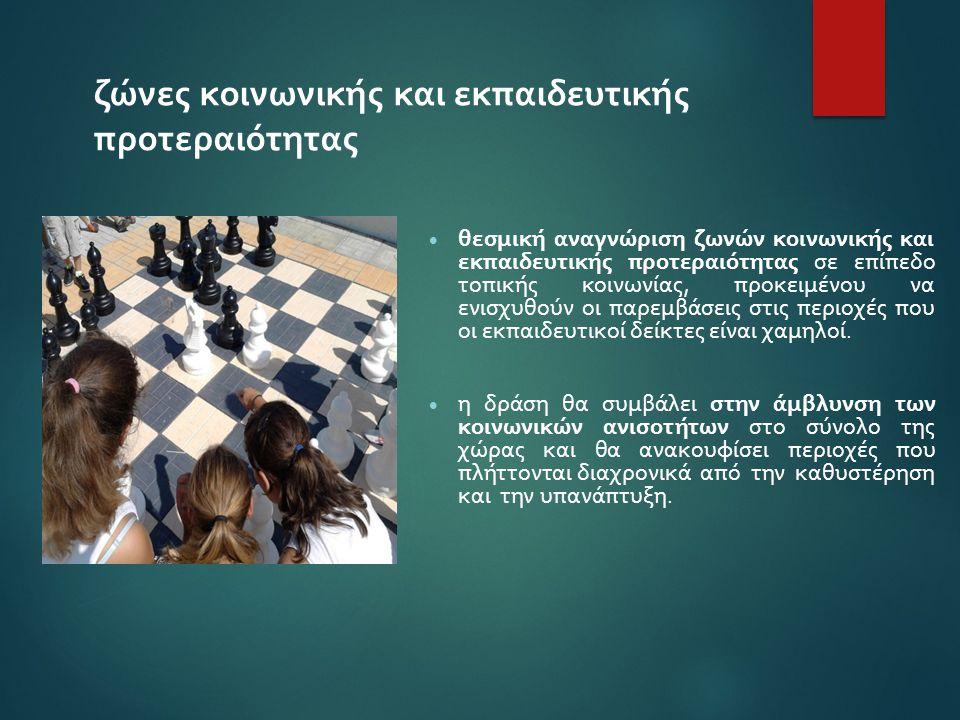 ζώνες κοινωνικής και εκπαιδευτικής προτεραιότητας  θεσμική αναγνώριση ζωνών κοινωνικής και εκπαιδευτικής προτεραιότητας σε επίπεδο τοπικής κοινωνίας,