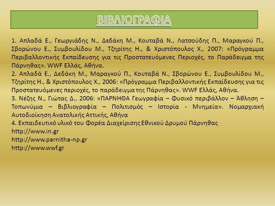1. Απλαδά Ε., Γεωργιάδης Ν., Δεδάκη Μ., Κουταβά Ν., Λατσούδης Π., Μαραγκού Π., Σβορώνου Ε., Συμβουλίδου Μ., Τζηρίτης Η., & Χριστόπουλος Χ., 2007: «Πρό