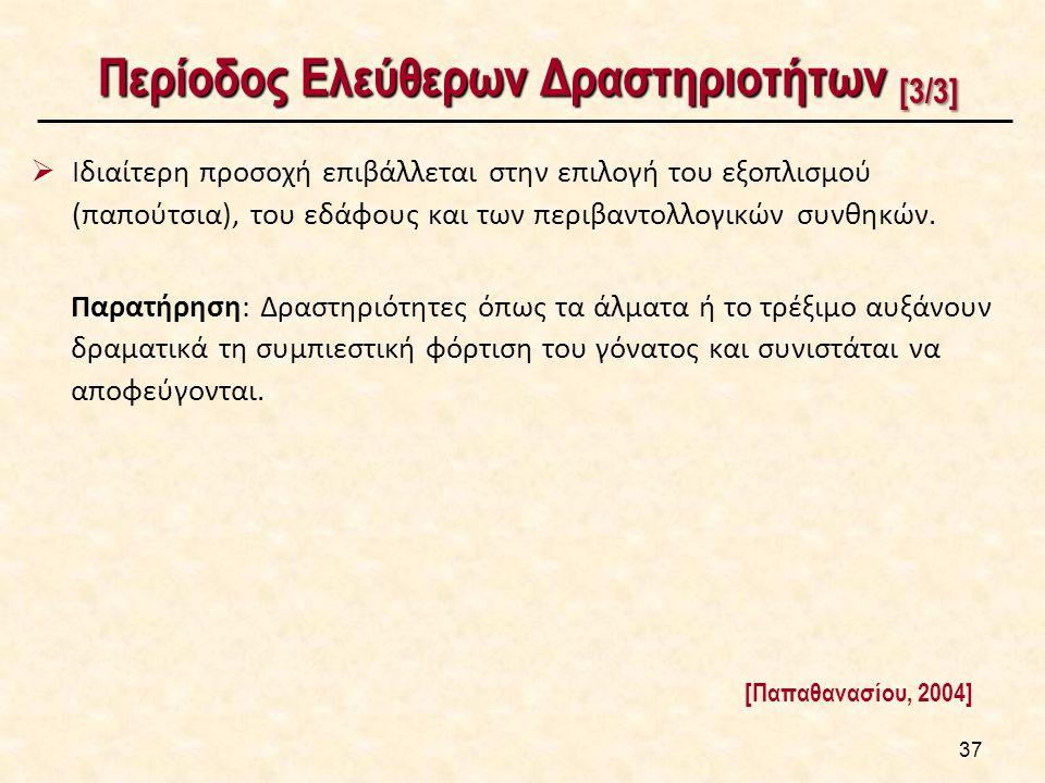 Περίοδος Ελεύθερων Δραστηριοτήτων [3/3] Περίοδος Ελεύθερων Δραστηριοτήτων [3/3]  Ιδιαίτερη προσοχή επιβάλλεται στην επιλογή του εξοπλισμού (παπούτσια), του εδάφους και των περιβαντολλογικών συνθηκών.