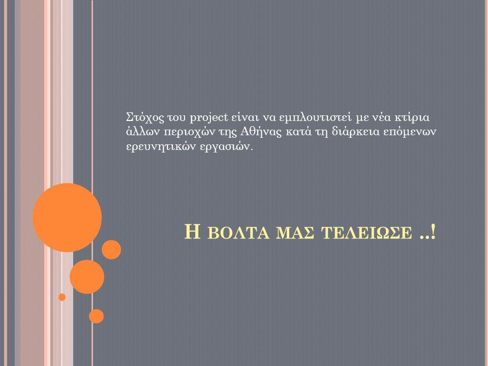 Η ΒΟΛΤΑ ΜΑΣ ΤΕΛΕΙΩΣΕ..! Στόχος του project είναι να εμπλουτιστεί με νέα κτίρια άλλων περιοχών της Αθήνας κατά τη διάρκεια επόμενων ερευνητικών εργασιώ