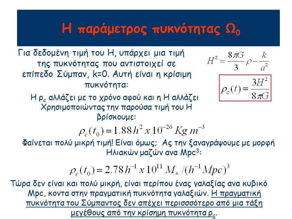 Η Ω είναι συνάρτηση του χρόνου, αφού και η  και η  c είναι χρονικά εξαρτόμενες.