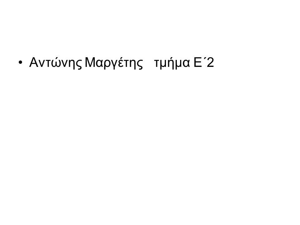 Αντώνης Μαργέτης τμήμα Ε΄2
