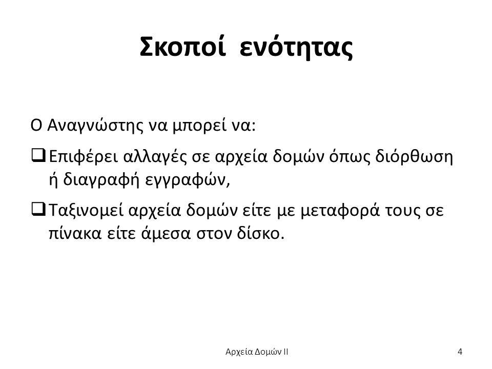 Οριστική Διαγραφή (3 από 3) while ( .