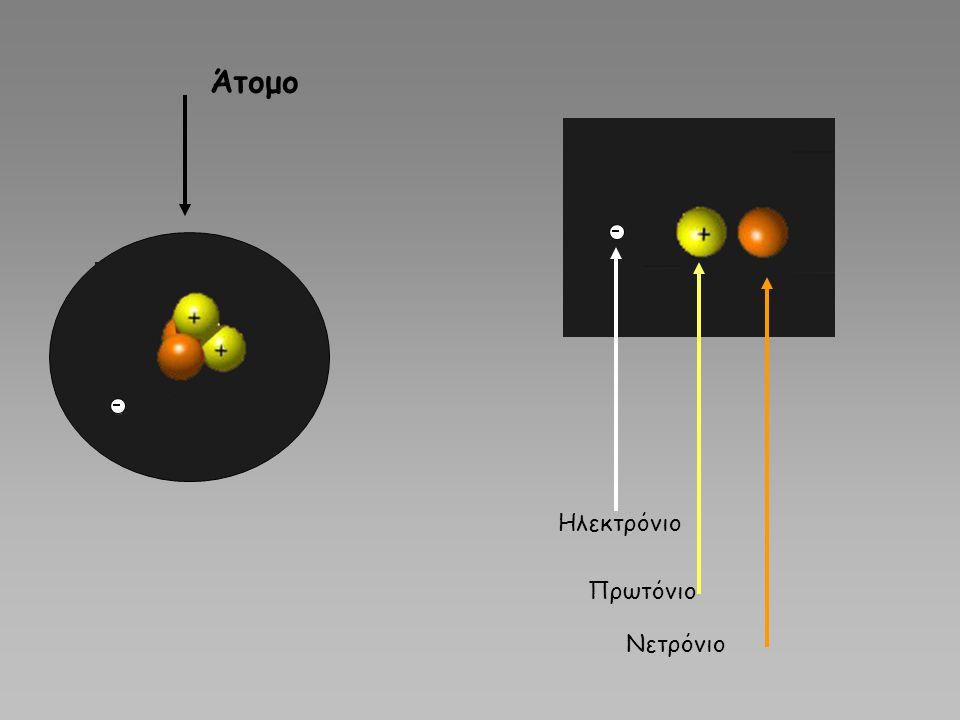 Ηλεκτρόνιο Πρωτόνιο Νετρόνιο Άτομο