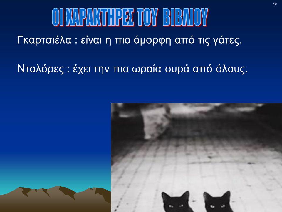 10 Γκαρτσιέλα : είναι η πιο όμορφη από τις γάτες. Ντολόρες : έχει την πιο ωραία ουρά από όλους.