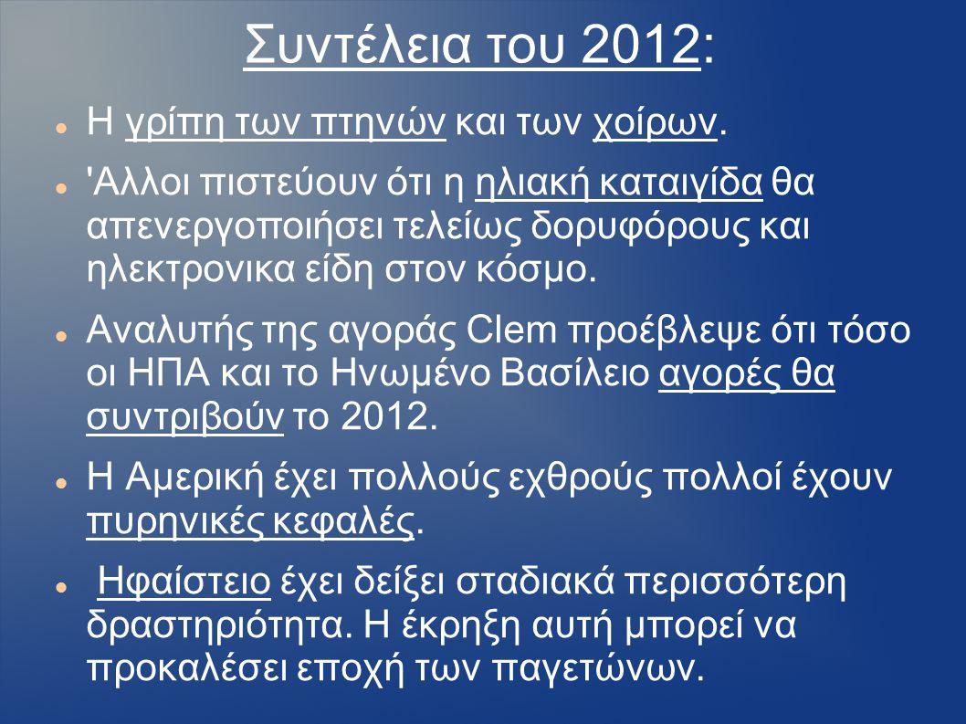 Συντέλεια του 2012: Η γρίπη των πτηνών και των χοίρων.