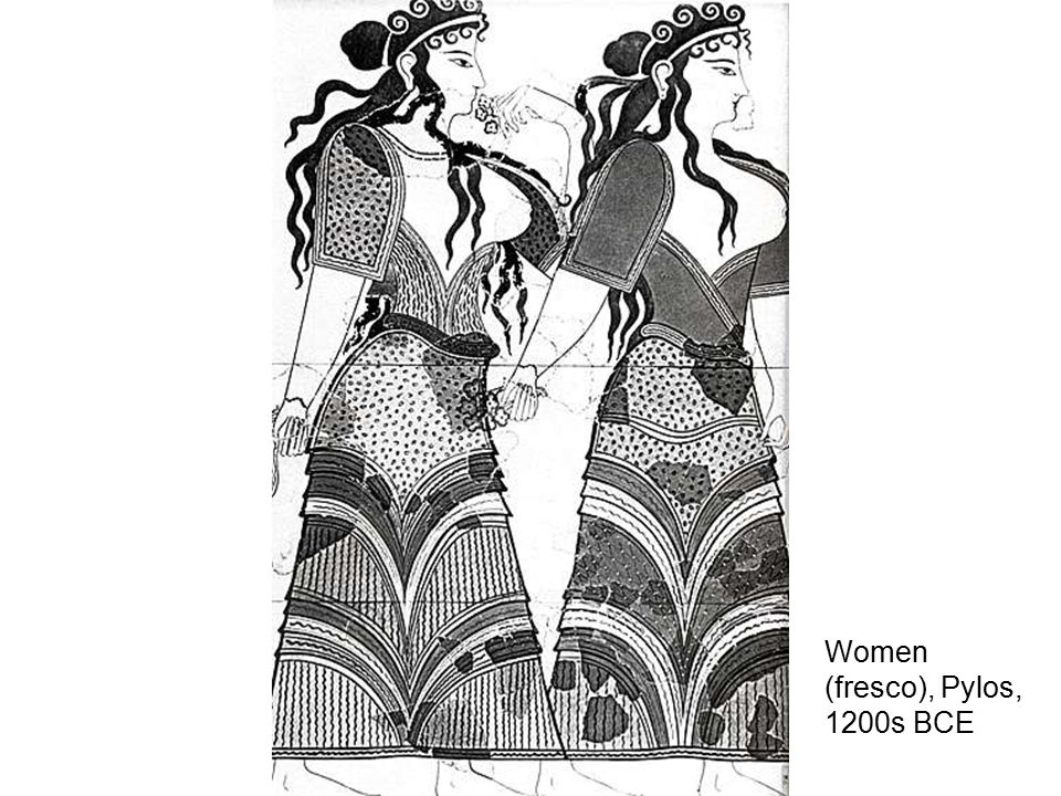 Women (fresco), Pylos, 1200s BCE
