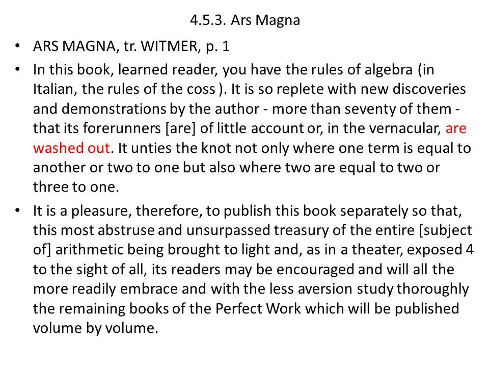 4.5.3.Ars Magna ARS MAGNA, tr. WITMER, p.