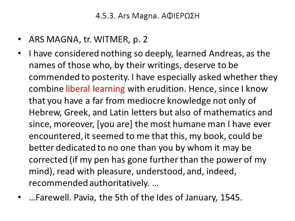 ARS MAGNA, tr.WITMER, p.