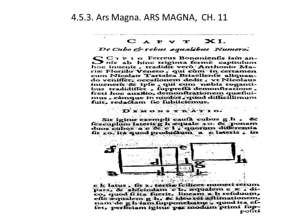 4.5.3. Ars Magna. ARS MAGNA, CH. 11