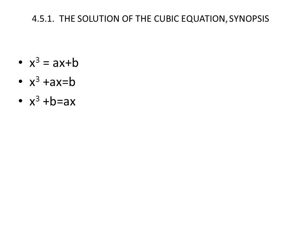 x 3 = ax+b x 3 +ax=b x 3 +b=ax
